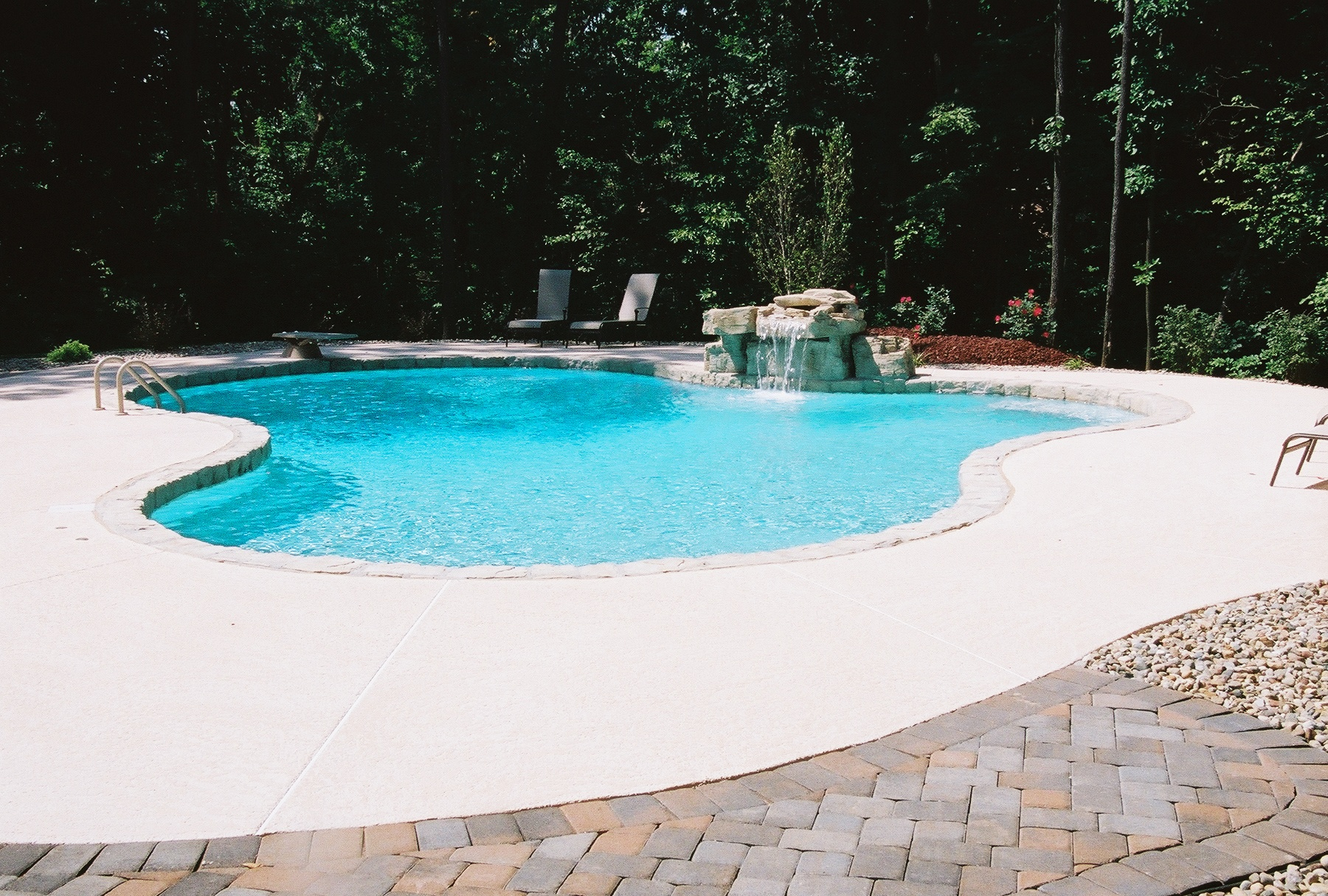 Swimcraft inc copings stone gallery of acrylic for Stone swimming pool